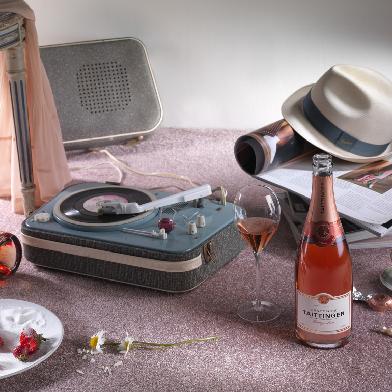 Kit aperitivo con Taittinger